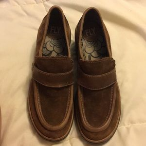 Fly London suede shoes leather upper Sz 38 Nwt